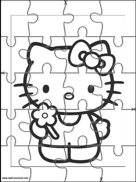 hello kitty cut out pattern