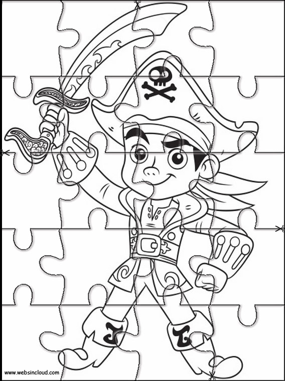 Jake and the Never Land Pirates Jigsaw to cut out 16