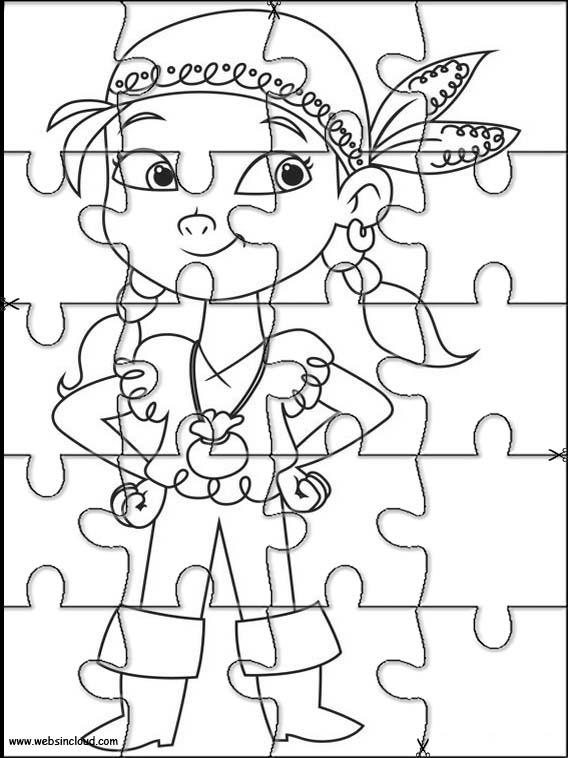 Puzzlespiele. Puzzles zum ausdrucken für Kinder Jake und die ...