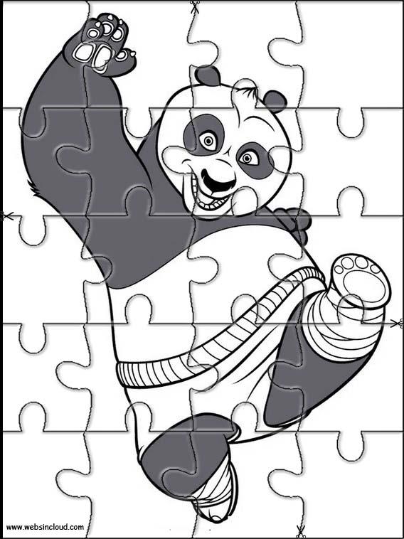 kung fu panda puzzle zum ausdraken 43