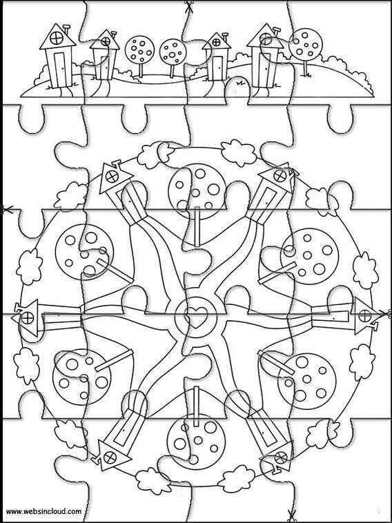 Mandalas Pussel Att Skriva Ut F 246 R Barn