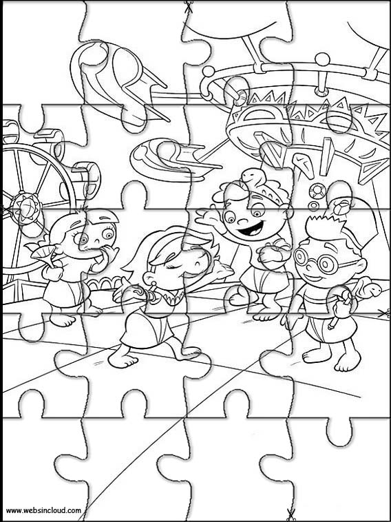 Quebra cabeças para crianças Little Einsteins 51