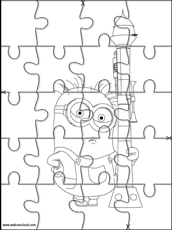 Minions Printable Jigsaw Puzzles To Cut Out 1