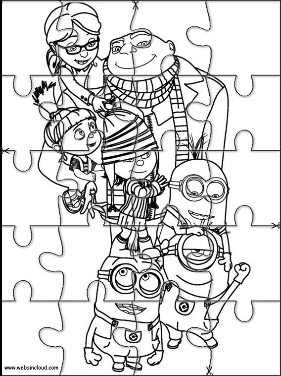 Minions Puzzles recortables para niños 5