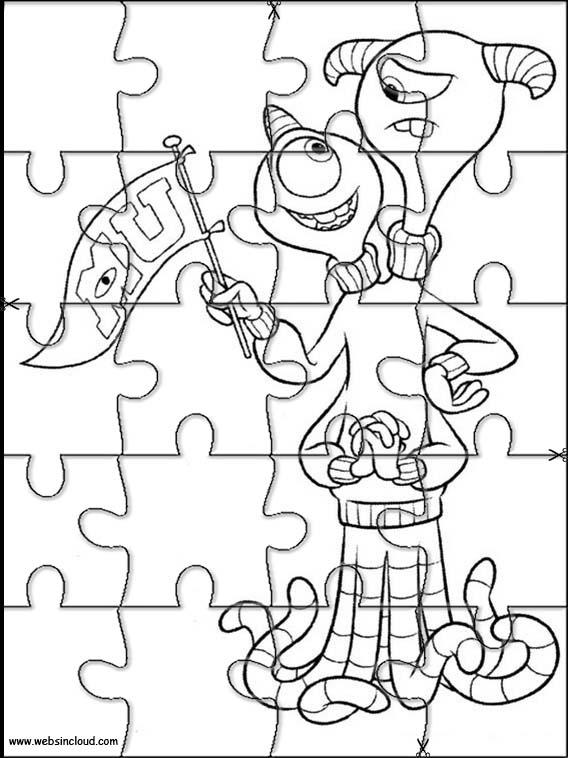 Puzzles recortables para imprimir para niños Monstruos S.A. 22