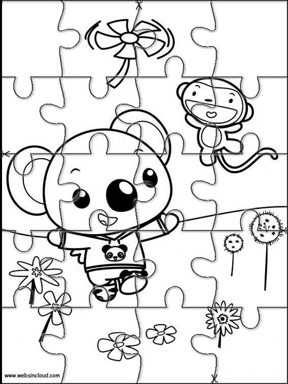Rompecabezas recortables para imprimir para niños Ni Hao Kai-Lan 16