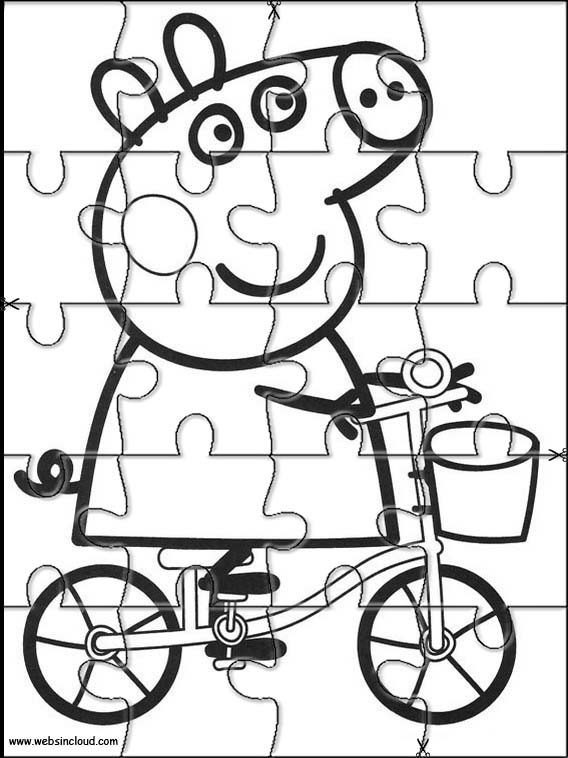 Peppa Pig Printable Jigsaw 2