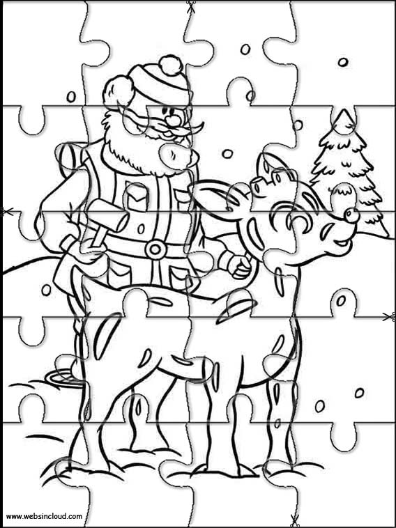 Rudolph The Red Nosed Reindeer Printable Jigsaw 14