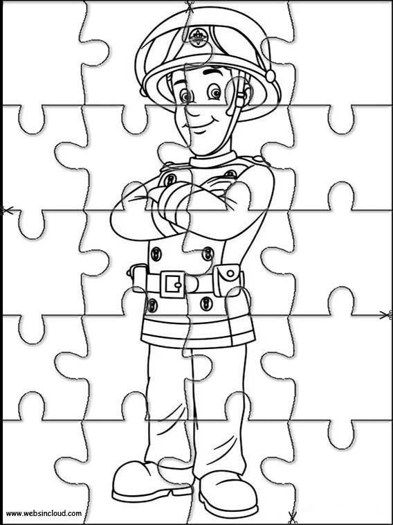feuerwehrmann sam puzzle zum ausdraken 29