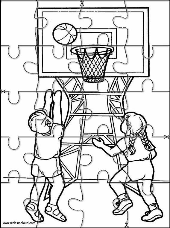 Puzzles recortables para imprimir para niños Deportes 36