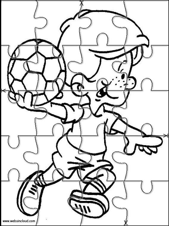 Rompecabezas recortables para imprimir para niños Deportes 51