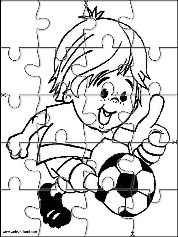 Rompecabezas recortables para imprimir para niños Deportes 58