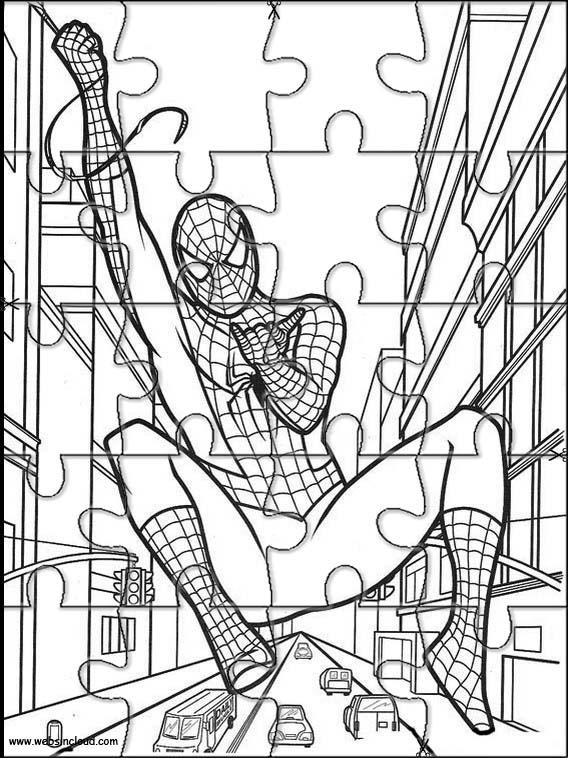 Spiderman Puzzle Zum Ausdraken 22