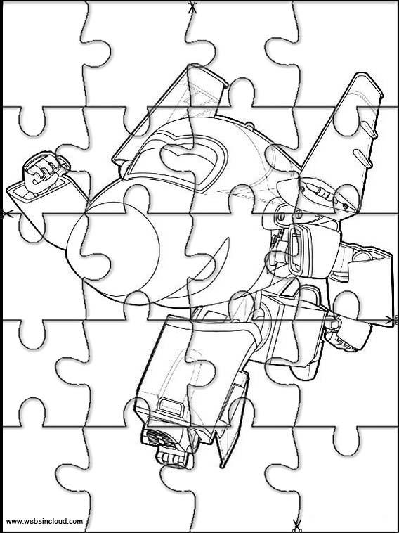 Puzzle. Jigsaw da stampare per bambini Super Wings 7