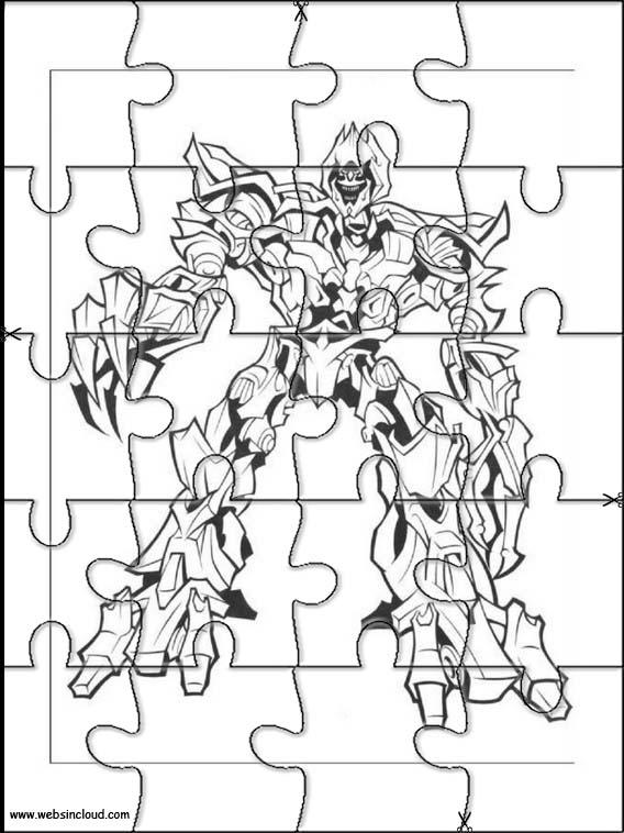 Transformers Rompecabezas recortables para imprimir para ...